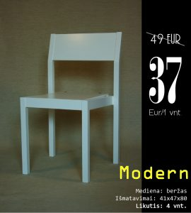 Modern balta be skyliu kaina