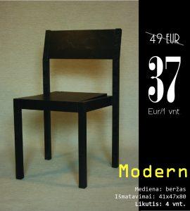Modern juoda be skyliu kaina